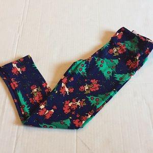 Lularoe kids small/medium holiday leggings